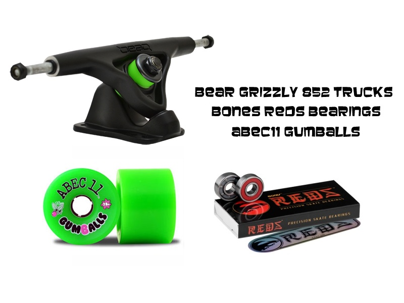 trucks and wheels for drop deck longboards